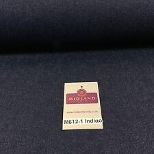 """7.5oz Indigo-Black Denim Midweight 100% Cotton Fabric 58""""Wide M612 Mtex"""