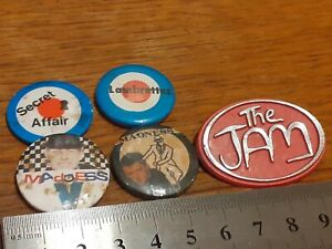 Vintage Mod Ska Pins/Badges from here in England THE JAM MADNESS TWO TONE