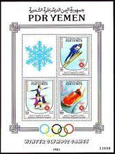 Yemen PDR 1983 ** Bl.19 Olympische Winter Spiele
