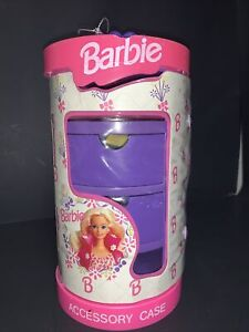 Vintage 1993 Barbie Accessory Case with accessories Lot