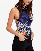 Free People Womens Pixie OB777907 Bodysuit Floral Sleeveless Black Size XS