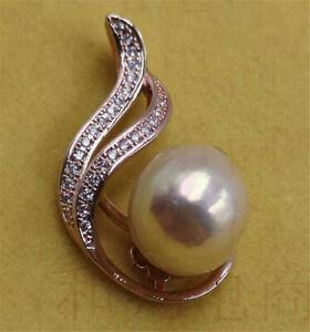 Natural Pink Baroque Pearl Pendant 18K Gold Luxury AAA Irregular Women REAL