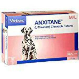 Virbac Anxitane M/L Dog Chewable tabs 100mg 30ct Helps Keep Pet Calm & Relax