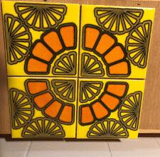 HR Johnson ceramic tile(4), vintage 70s design