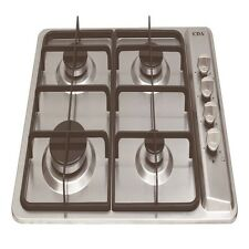 CDA Four Burner Gas Hob Stainless Steel Automatic ignition LPG kit