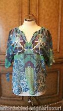 Hale Bob Sheer Multi Color Tunic, Size S, Retail