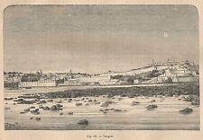 A2457 Tangeri - Veduta generale - Xilografia - Stampa Antica 1895 - Engraving
