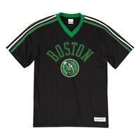 New Mitchell & Ness Boston Celtics Black Overtime Win Vneck Tshirt NBA