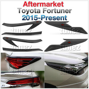 Front Tail Rear Light Lamp Cover For Toyota Fortuner Black 2015 2016 2017 2018 Z