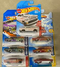 HOT WHEELS Custom '53 Chevy Lot OF 7 Different Colors & Variations Red Edition
