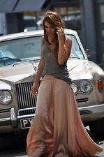 ZARA maxi long skirt beige nude Rock jupe size S 36 new