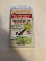 Parker Red Hot Crossbow Lighted Capture Nocks GREEN 3 PACK BY LUMENOK .300 ID