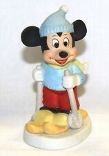 Walt Disney Productions Mickey Mouse Bisque Porcelain Skier Figurine