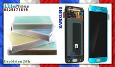 Original 100 % LCD pour Samsung Galaxy S6 G920F FZ AZ Bleu turquoise neuf