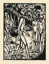 Erich Heckel original woodcut