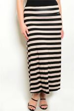 Women's Plus Size Taupe and Black Stretch Maxi Skirt 3XL NEW