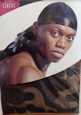 camouflage camo  sport hip hop du doo rag durag SKULL CAP  Nylon Tie Down tail