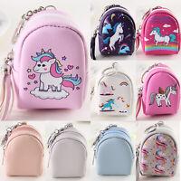 Womens Girl Cartoon Mini Wallet Coin Purse Leather Zipper Mini Pouch Bag Decor