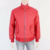 Made In England Mens Size S M Red Cotton Harrington Short Jacket