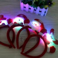 Light Up Christmas Headwear Xmas Gift Women Girls Hair Hoop Hairband Headband