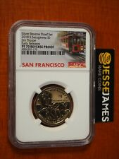 2018 S REVERSE PROOF SACAGAWEA DOLLAR NGC PF70 EARLY RELEASES TROLLEY LABEL