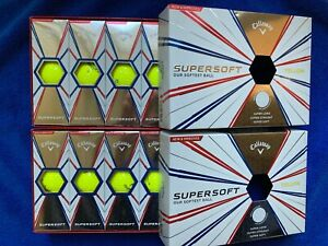 2, 3, 4 or 6 Brand New Boxes of Yellow Callaway SuperSoft Golf Balls