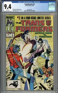 Transformers #2 CGC 9.4 NM WHITE PAGES