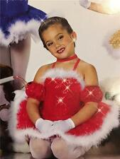 DANCE COSTUME CHRISTMAS  RED ART STONE  PAGEANT TAP BALLET CHRISTMAS PRESENTS