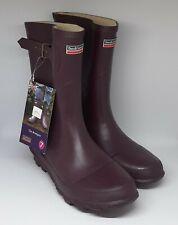 Town & Country 'The Bradgate' Aubergine Purple Short Wellington Boots UK SIZE 7