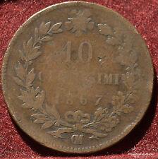 10 CENTESIMI 1867 .VITTORIO EMANUELE II ITALIA MA48