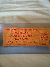 Woodstock 1969 Authentic Unused Saturday Ticket Mint