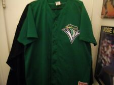 Vintage Vermont Lake Monsters #  14 2013 Button Front BP Jersey Size Man 46