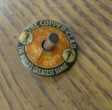 Vintage Tin Celluloid Toy Advertising Top Premium Give Away Copper Clad Ranges