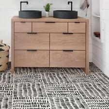 FloorPops FP2945 Noleby Peel & Stick Floor Tile, Black