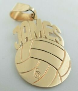 14K Yellow Gold Volleyball Pendant James