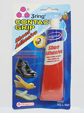 40ml LARGE ADHESIVE FOR SHOE GLUE SOLE REPAIR, Fix Repair Leather Boot Rubber