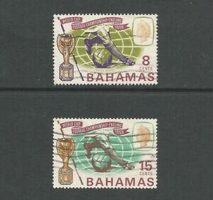 Bahamas 1966 Football World Cup, used set.  SG288-9