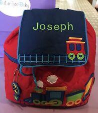 Personalised Backpack Stephen Joseph Train Backpack School Nursery Bag