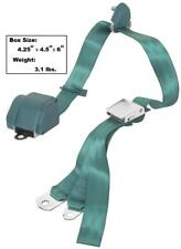 1965-73 Mustang Seat Belt 3Point Mount w/Chrome Lift Latch Buckle Turquoise-Aqua