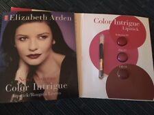 Elizabeth Arden Color Intrigue Lipstick Trio Card Lip Brush Seduction Flirt CZJ