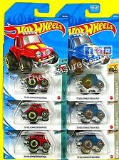 Hot Wheels - Lot of 6 - VOLKSWAGEN - '70 BAJA BUG - Tooned - Red / Blue - C212