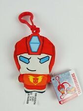 Transformers Clip Bots Plush Autobot Hot Rod Reversible Keychain Clip Toy
