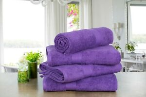 PACK of 4 100% Cotton Extra Absorbent Bath Towels, 30 in X 54 in by Ample Decor