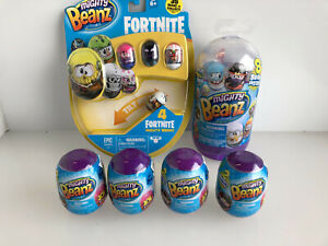 Might Beanz Package - Fortnite 4 Pack, Series 1 Slam Pack (8 Beanz) + 4 x 2 Pods