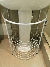 Bathroom Storage Rack white Under Sink Pedestal Towels Stand Modern Shelves