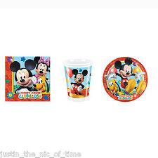Disney mickey mouse clubhouse boys party starter pack assiettes tasses serviettes pour 16