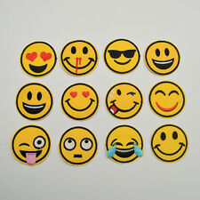 36pcs 2'' mixed Smile face fun smile applique iron-on patch each 3pcs.for DIY