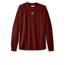 Adidas Original Mens 3 Stripes Tree Foil Tee Long Sleeve tshirt XL Maroon