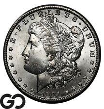 1901-O Morgan Silver Dollar Silver Coin, Very Nice Gem BU++
