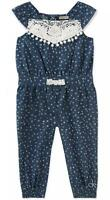 Calvin Klein Infant Girls Chambray Jumpsuit Size 3/6M 6/9M 12M 18M 24M $45